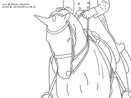 free line-art horse