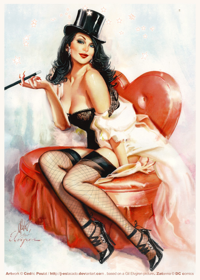 ZATANNA- Gil Elvgren tribute by J-Estacado