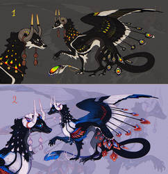 OPEN AUCTION collab adopt {dragons}