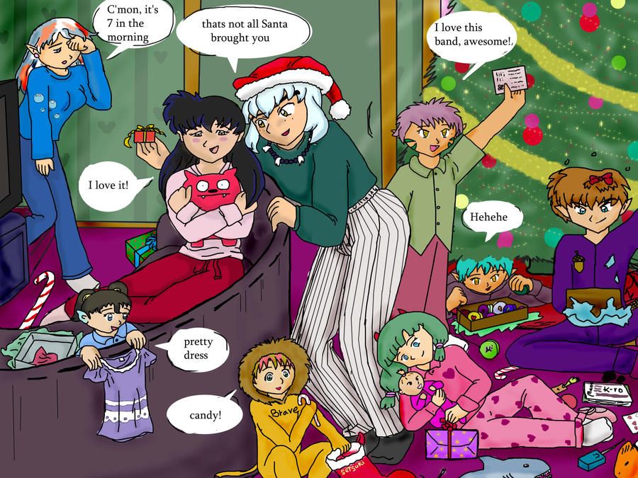 Inuyasha Christmas by kitkatnis on DeviantArt