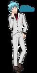 Vampire Aidan (Commission) by kitkatnis
