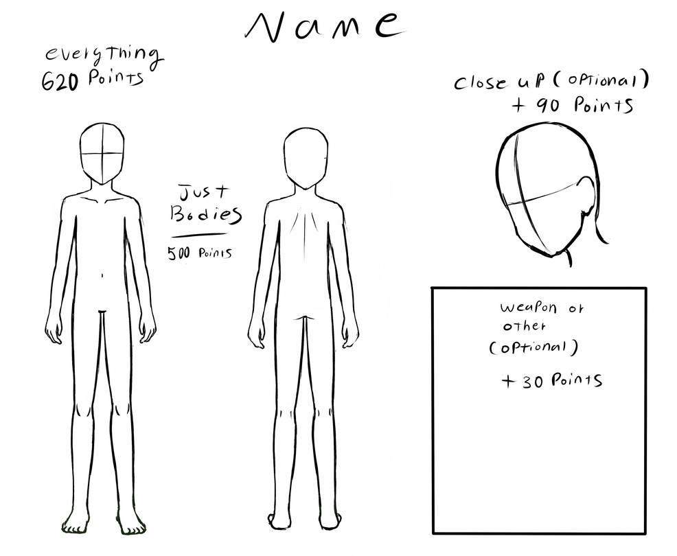 Character reference Template by kitkatnis