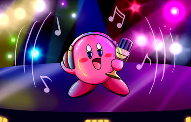 Mic Kirby! by kitkatnis