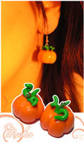 Pumpkin Earrings by Leviana