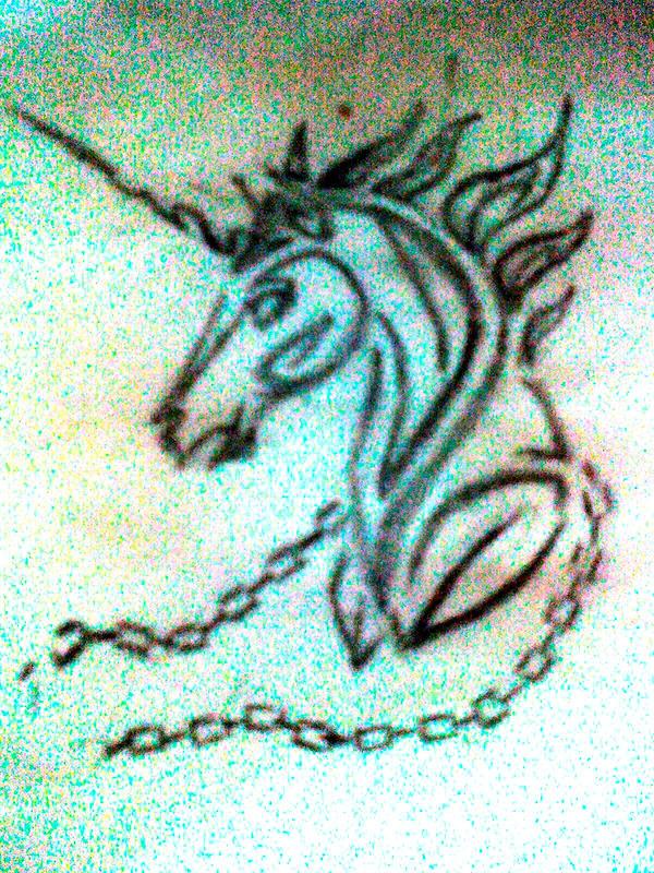 Tribal Unicorn Tattoo Sketch by ~loyal-brego on deviantART