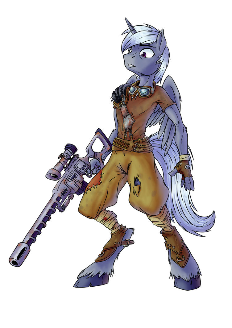 Anthro pony sniper by SonicPegasus