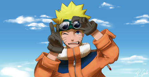 Naruto with his goggles and gloves? (FanArt)
