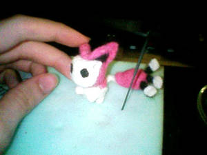 Needlefelted Skitty