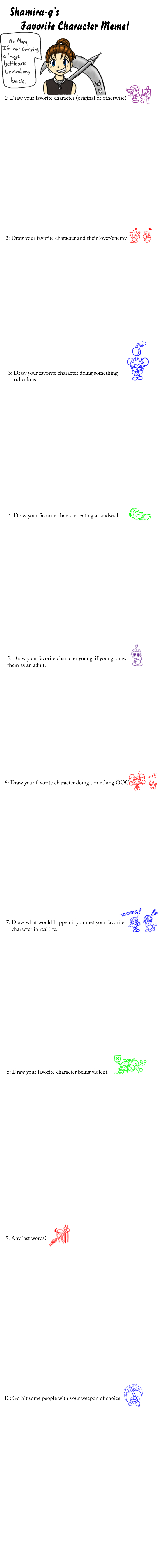 favorite character meme by shamira-g