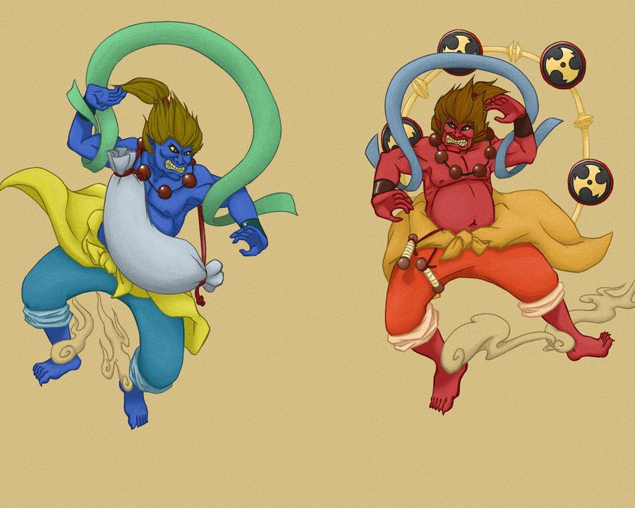 Raijin and Fuujin - colored by ianseanco