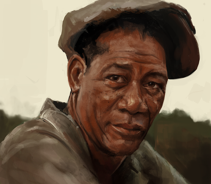 morgan freeman photostudy by oliverryanart