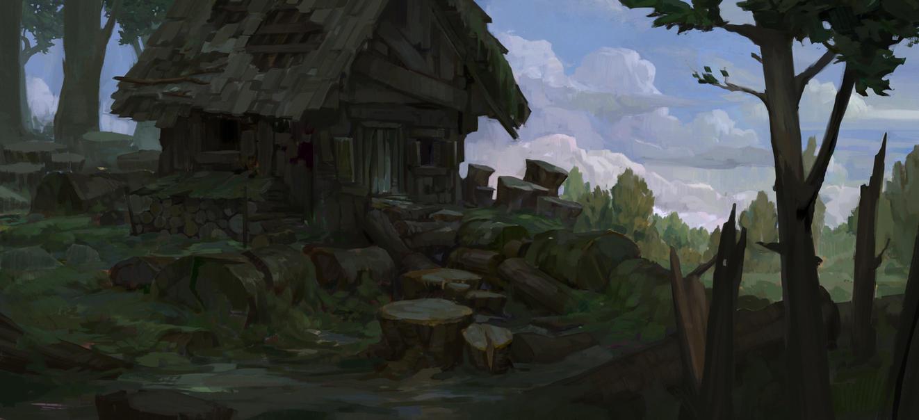 Cabin by oliverryanart