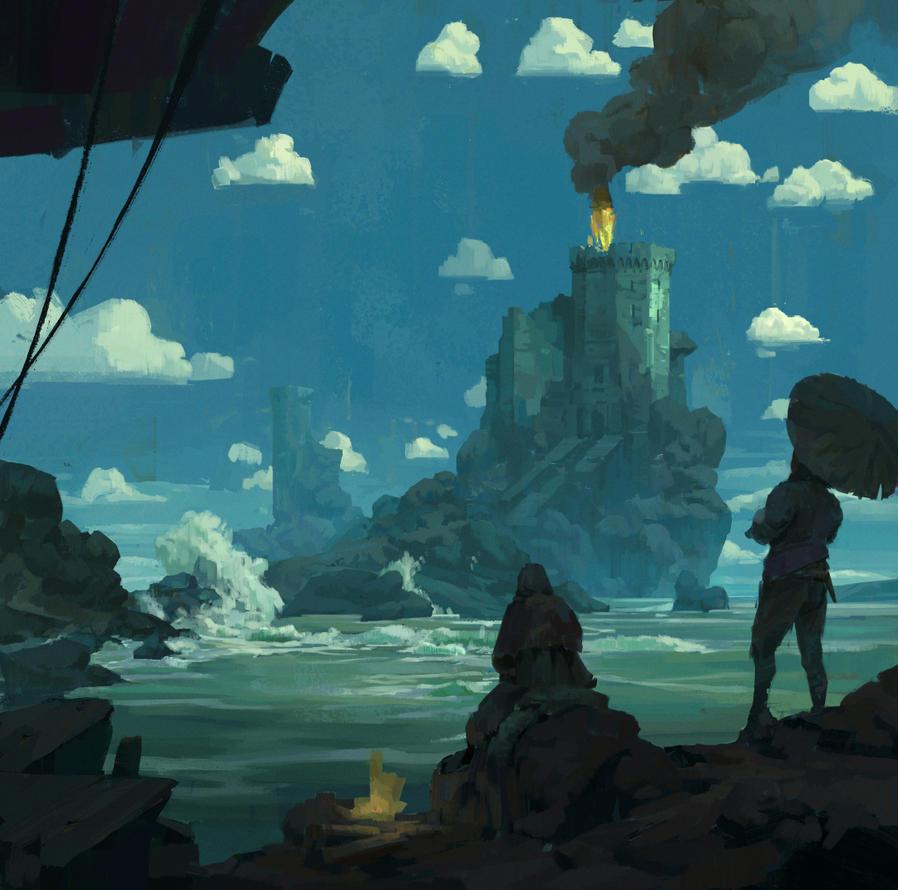 Sea Castle by oliverryanart