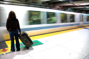 train luggage girl by krophoto