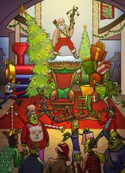 Santa Slays by DecayingArt
