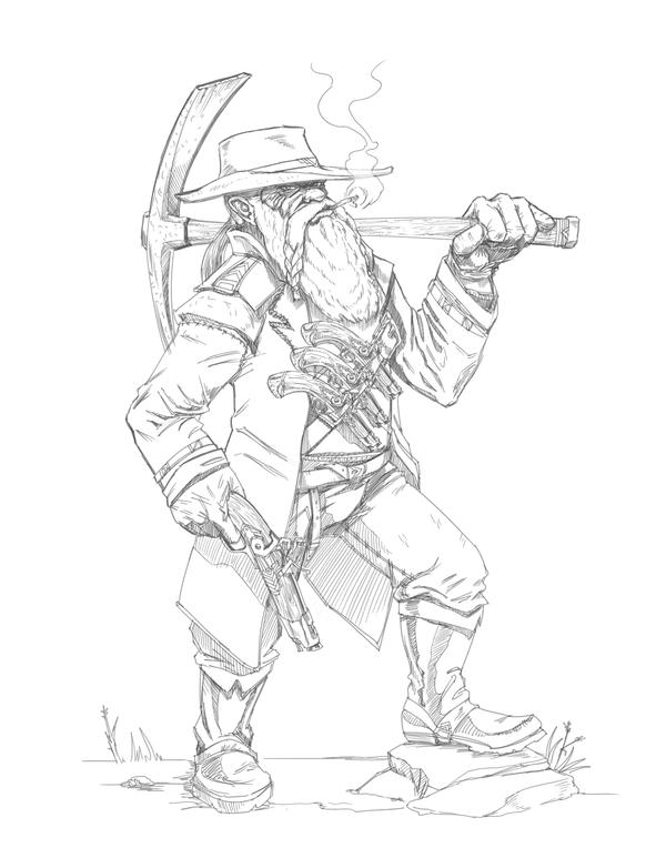 Dwarf Gunslinger by DecayingArt