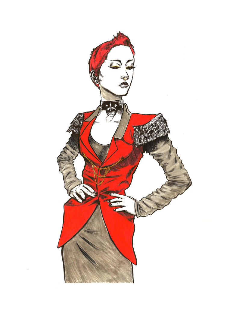 Vicki Nyx in Red by DecayingArt