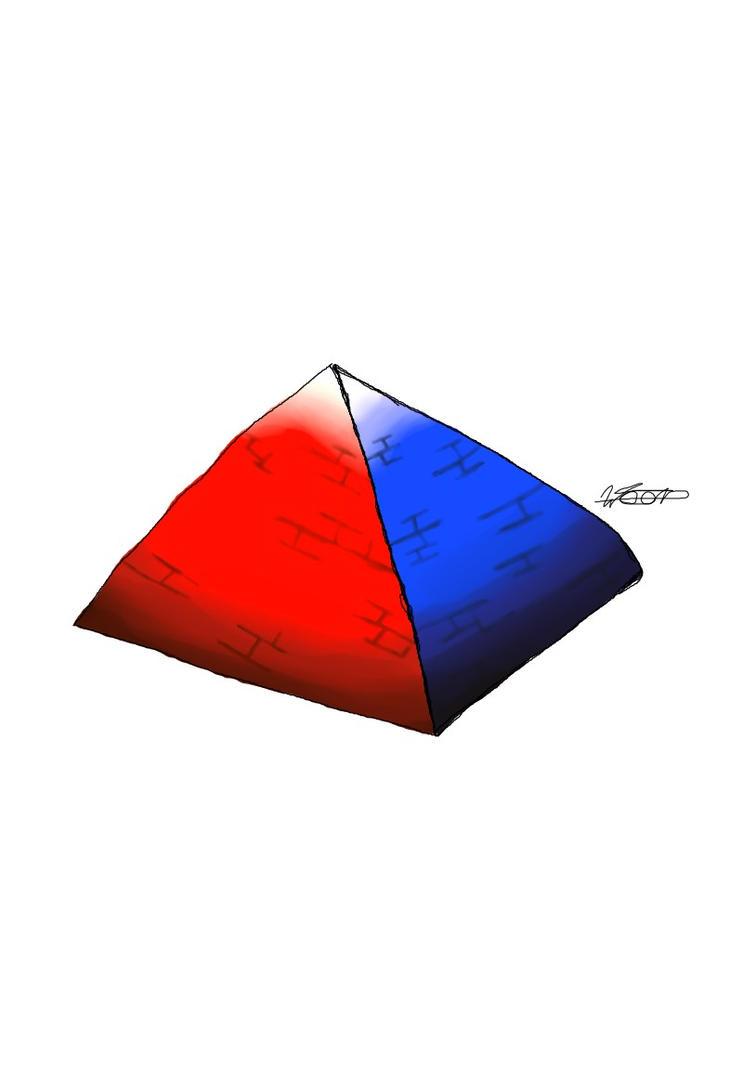 Piramide RED/BLUE by WELL-ArtLOL
