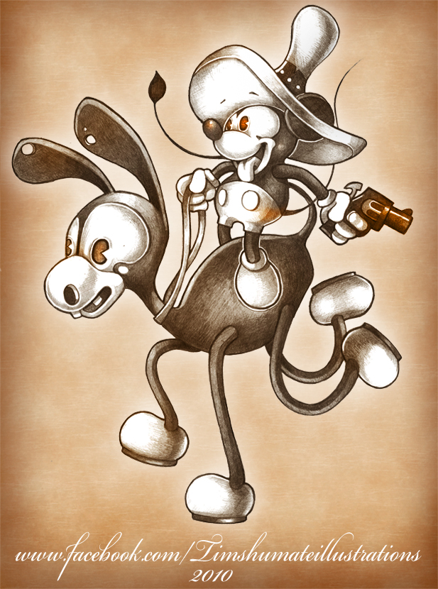 COWBOY MICKEY by telegrafixs