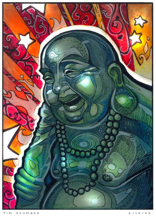 Glowing Buddha by telegrafixs
