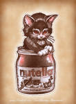 'Kitten in Nutella Jar'