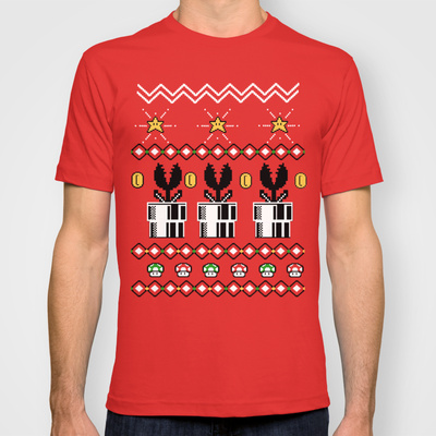 8 Bit Christmas Shirt by telegrafixs