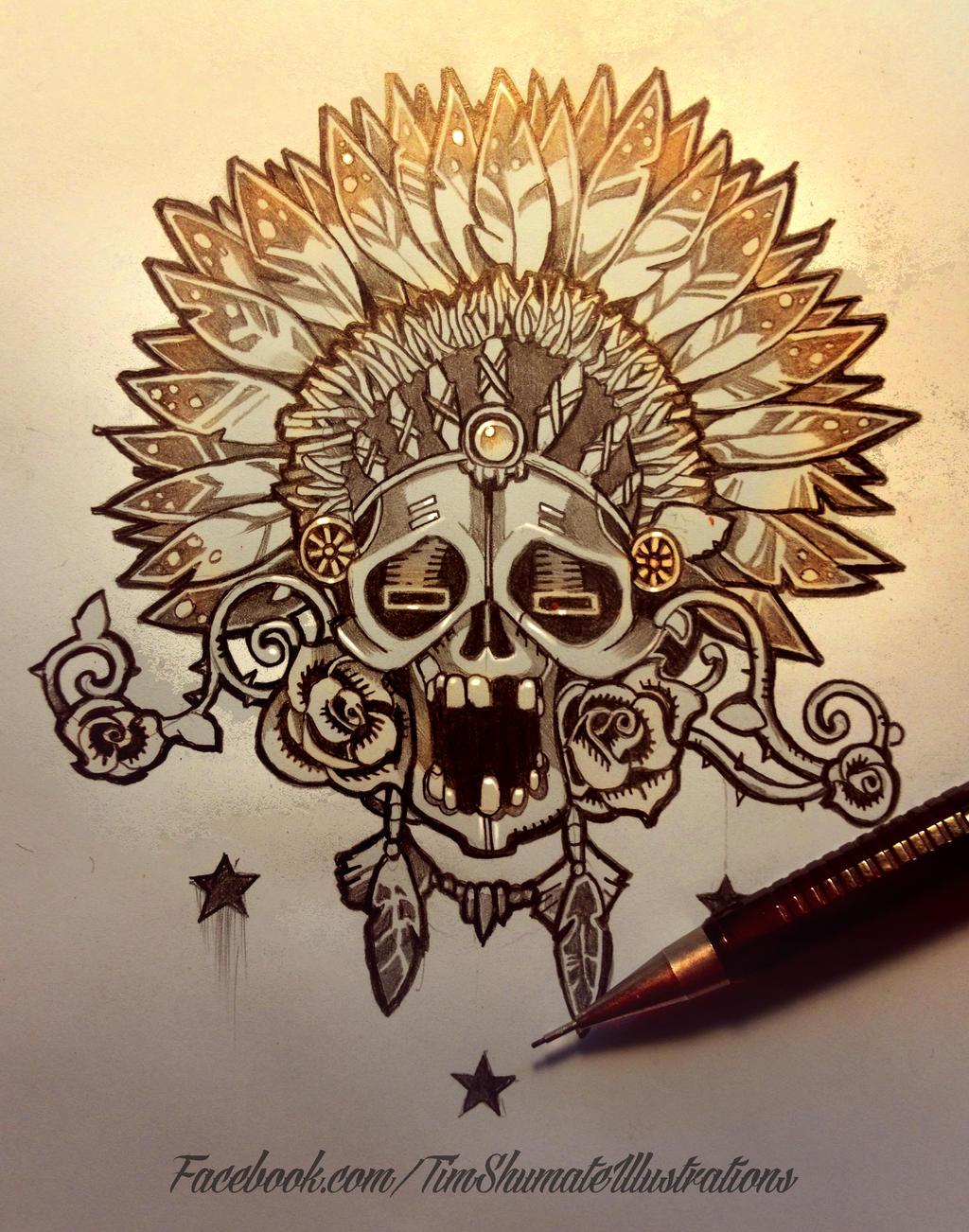 skull flash art. by telegrafixs