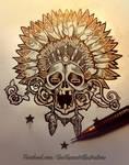 skull flash art.