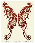 Nouve Butterfly tattoo