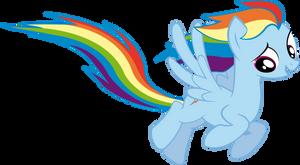 Rainbow Dash Fly by