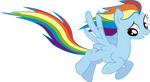 Rainbow Dash Fly by