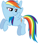 Smirking Rainbow Dash