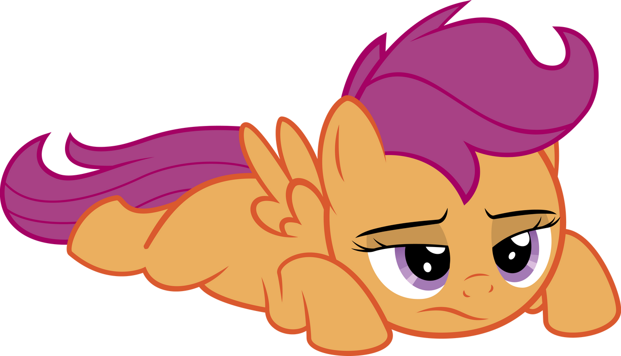 Scootaloo doesn't feel like doing stuff by RedPandaPony