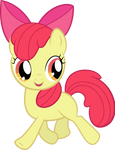 Apple Bloom Trotting Away