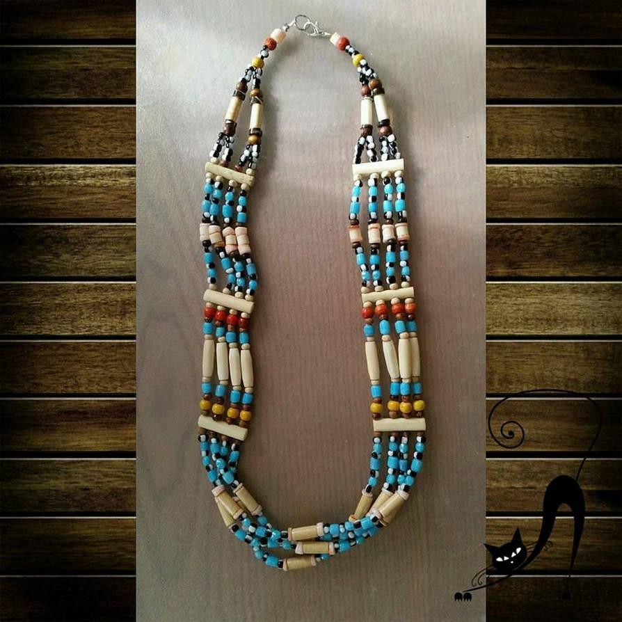 4e3acce02 Native American Bone Necklace by miwemporium92 on DeviantArt