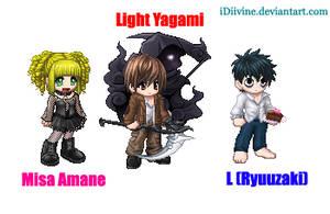Death Note Gaia Avatars by iDiivine