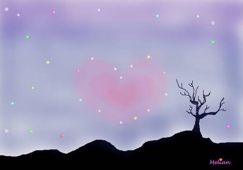 Heart Constellation no pink fog