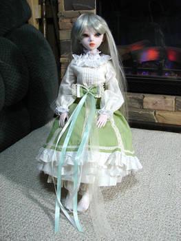 Cindy's New Green Dress 2