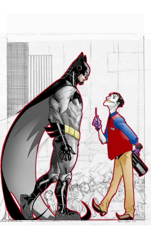 Batman Joker Sketch by TheAdrianNelson