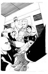 Captain America takes the elevator