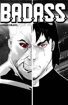 B.A.D.A.S.S. Cover Issue 4 Black and White