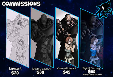 Commission are Open.