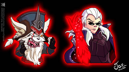 Kled and Swain Emotes- League of legends