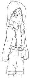 YNK: Hoodie Kid WIP by Lulech23