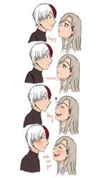 [BnHA OC] shoto and yue's happy valentine's day by Natsu-No-Hana