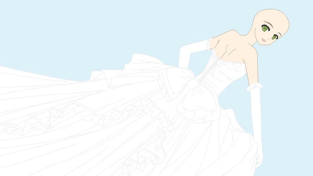 Anime wedding dress base