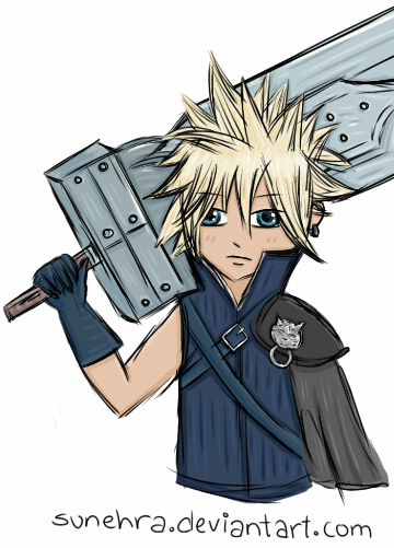 Cloud Strife by Sunehra