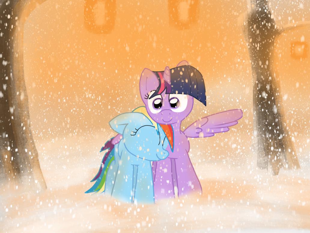 Snowy Nuzzle by FuzzyFox11