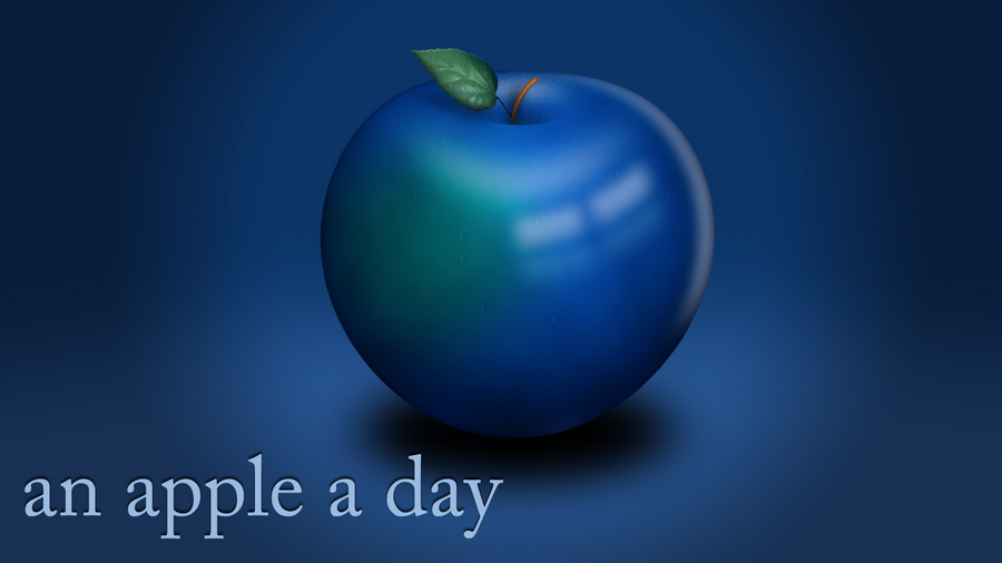An apple a day by BigTreeWorld on deviantART