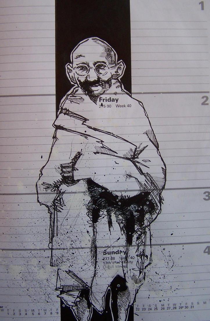gandhi by markcrossey